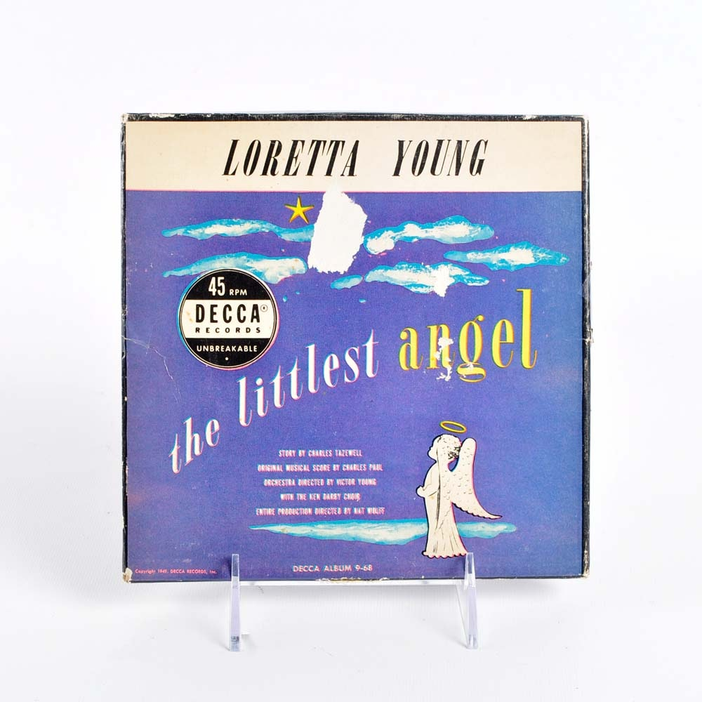 """The Littlest Angel"" Three-Record Set Narrated by Loretta Young"