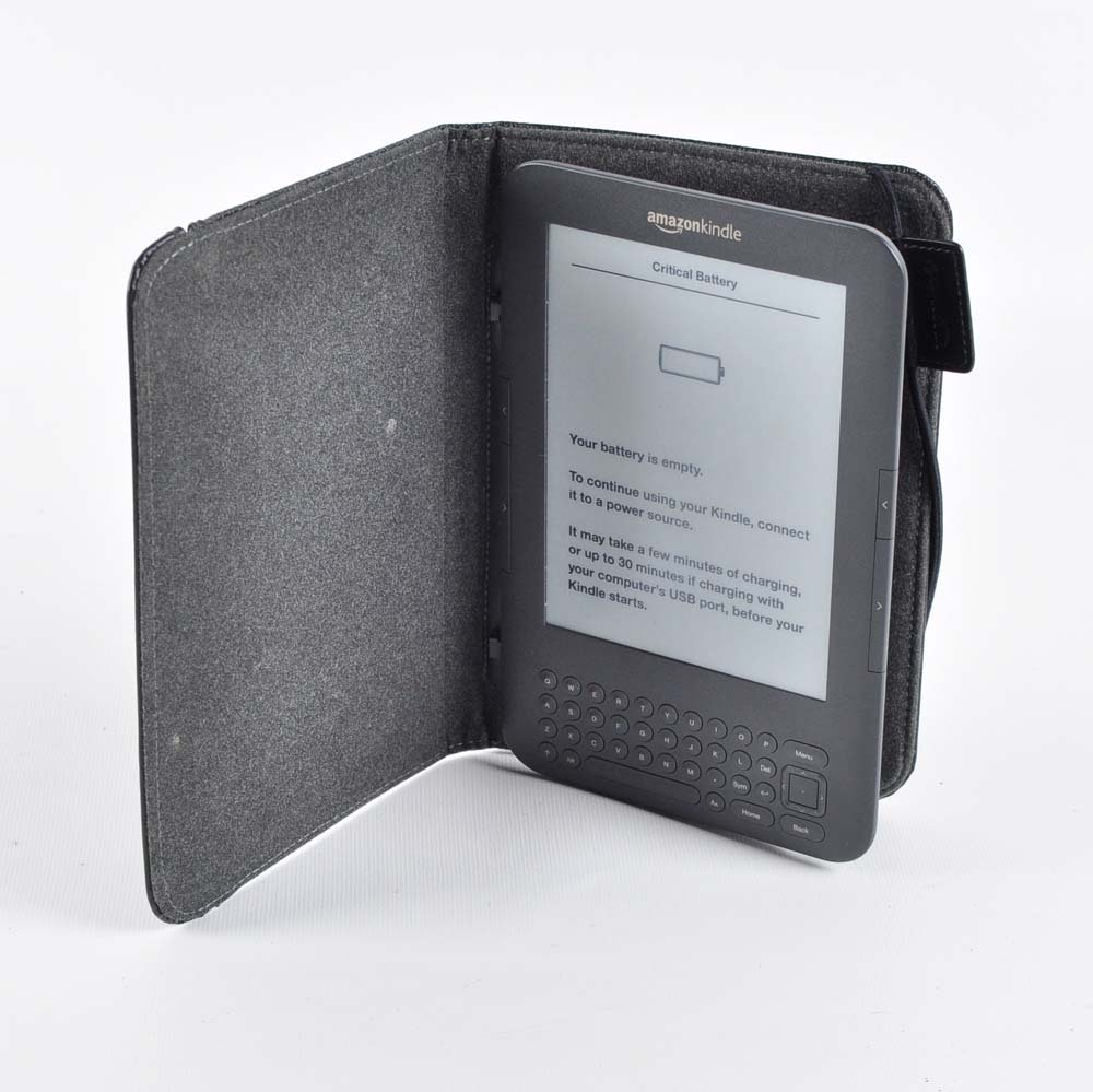 Amazon Kindle with Case