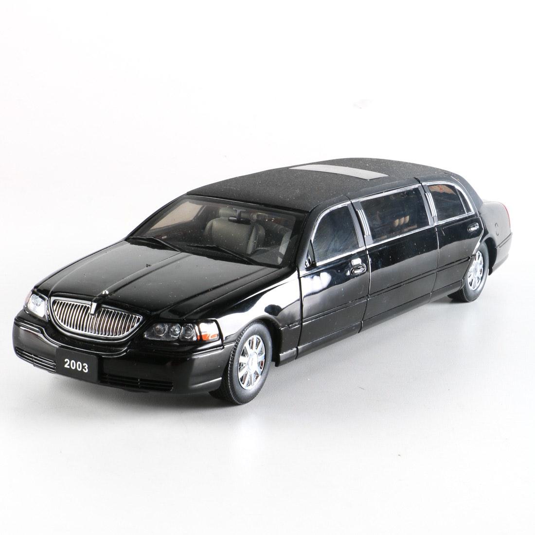 1 18 Diecast Sun Star Lincoln Town Car Limousine Ebth