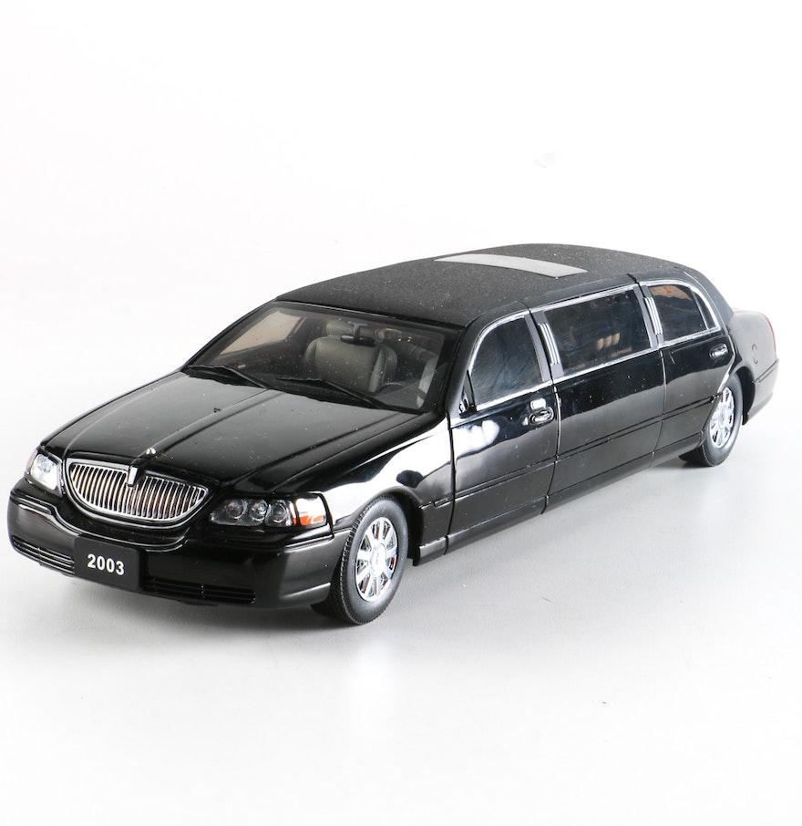 Lincoln Limo For Sale: 1:18 Diecast Sun Star Lincoln Town Car Limousine : EBTH