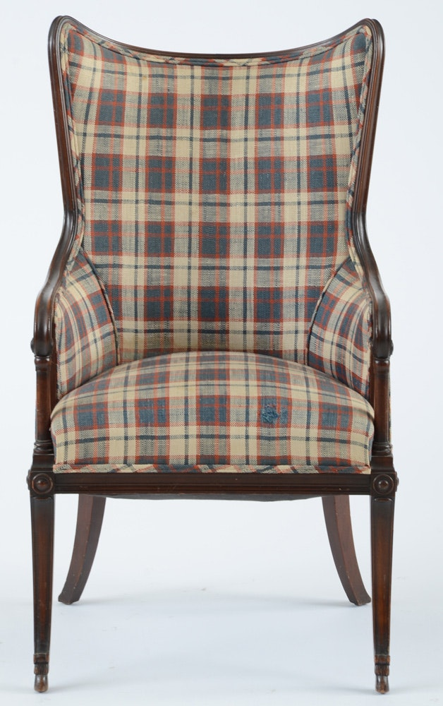 Pair Of Edwardian Period Wingback Arm Chairs Ebth