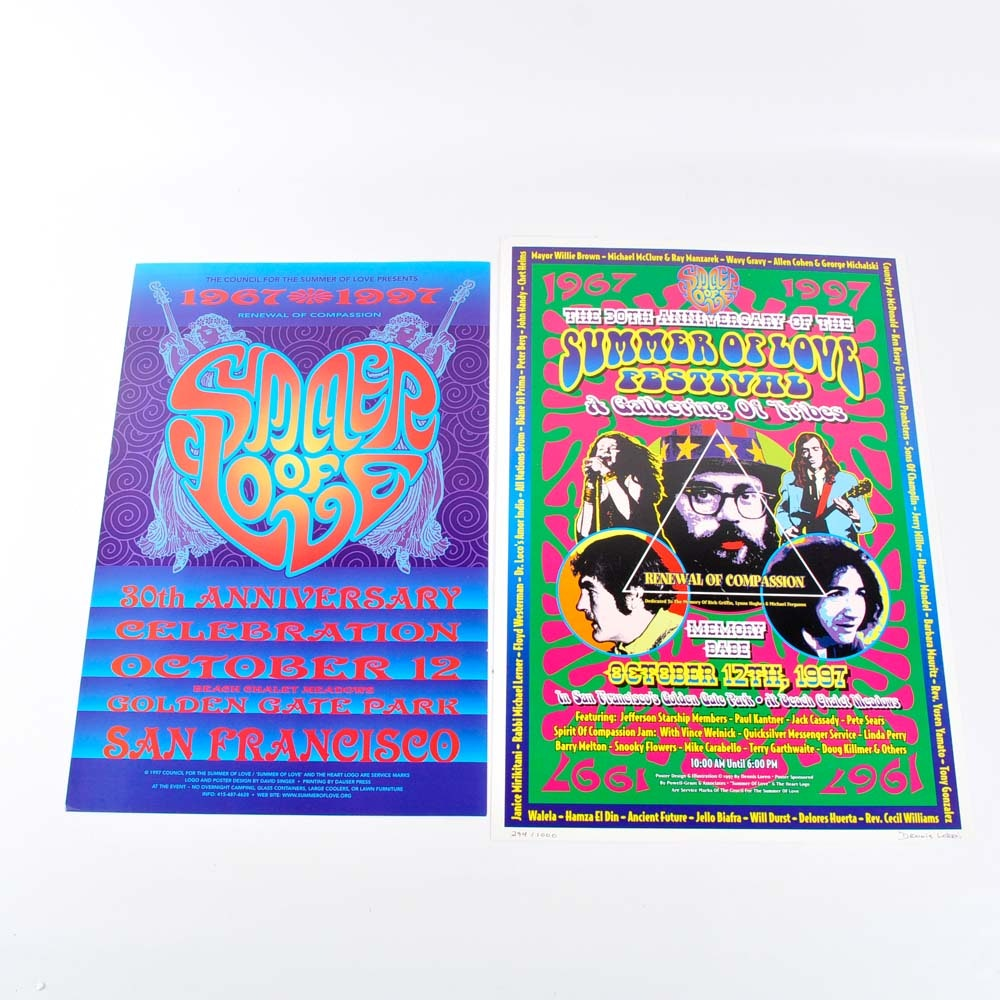 Summer of Love 30th Anniversary Posters Featuring Dennis Loren