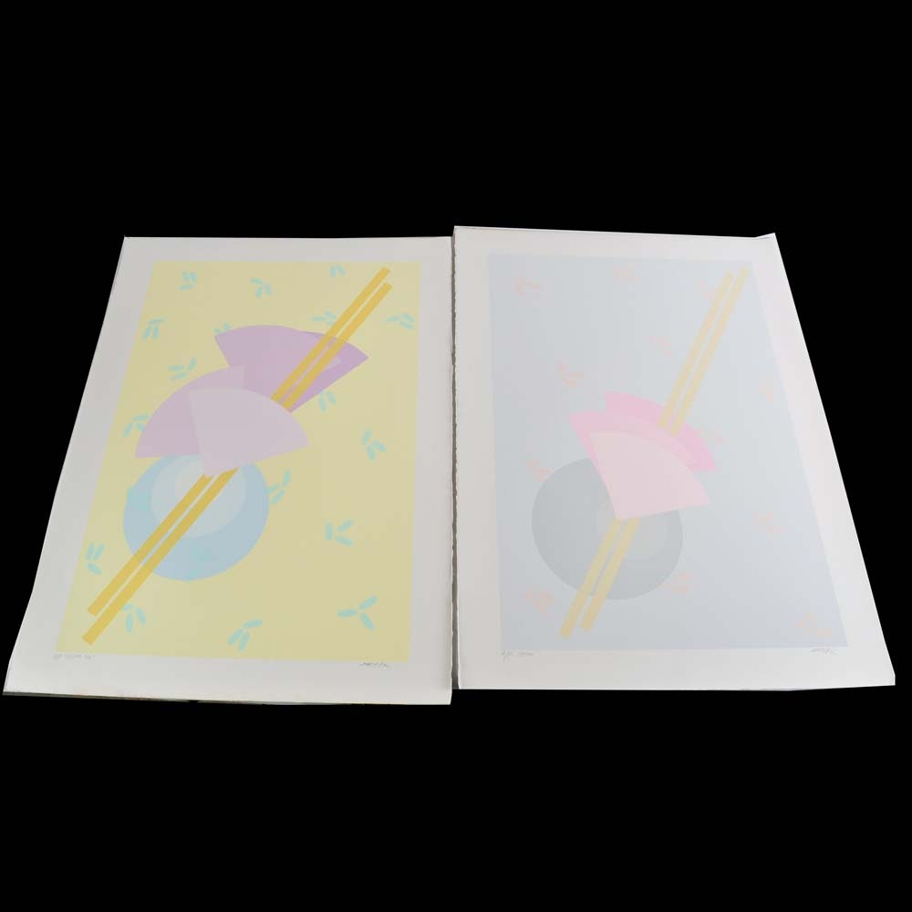 "Pair of ""Dream"" Series Serigraph Artist Proofs by Stark"