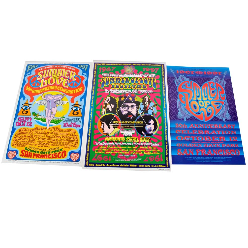 Limited Edition Summer of Love 30th Anniversary Posters