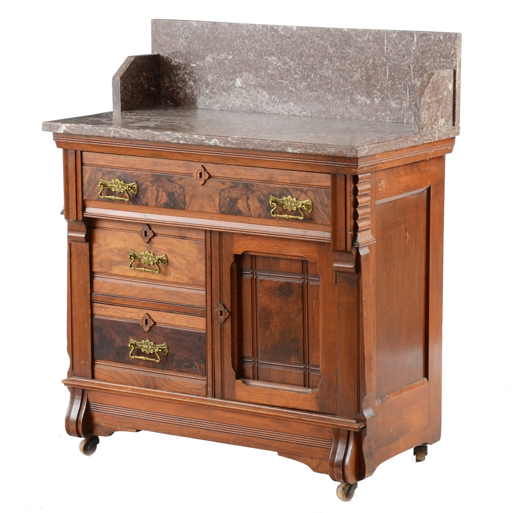 Antique Marble Top Wash Stand ...