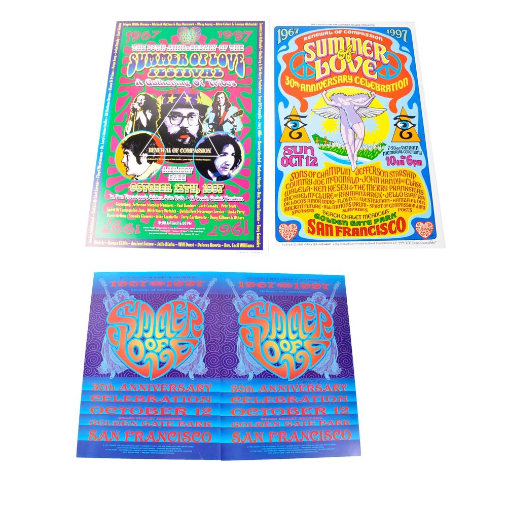 Artist Signed Summer of Love 30th Anniversary Posters