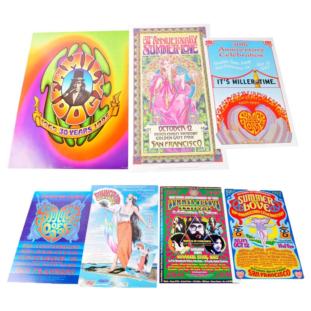 Summer of Love 30th Anniversary Posters Featuring Bob Masse
