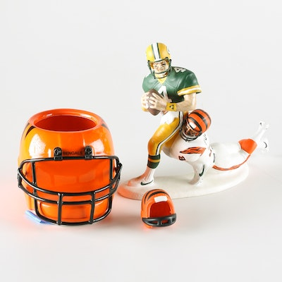 Circa 1970 ceramic bengals helmet bank with box ebth for Bengalas 50 cm