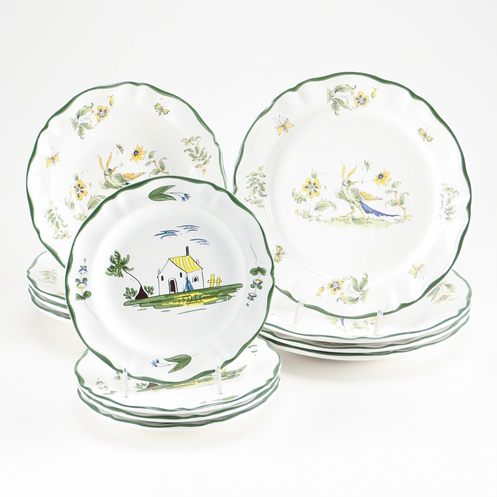 Hand-Painted Varages  Vieux Provence  and  Cabanon  Dinnerware ...  sc 1 st  EBTH.com & Hand-Painted Varages