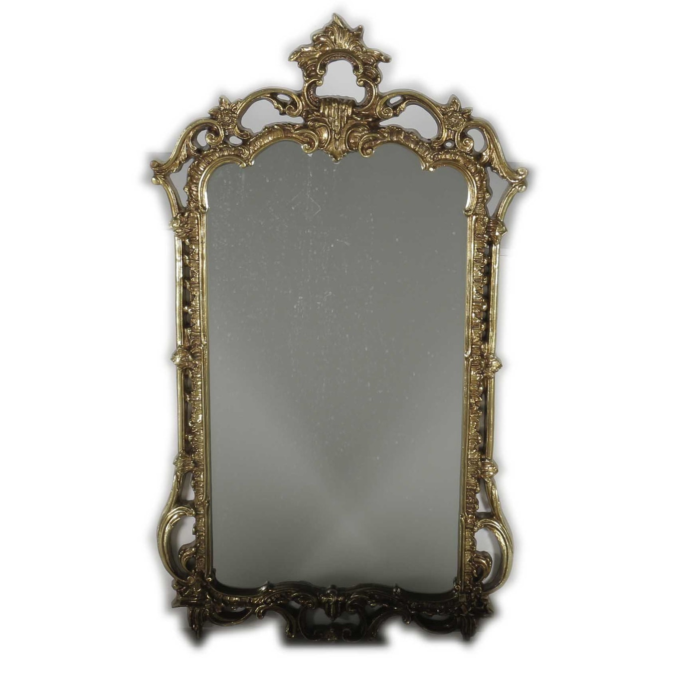 Gold tone ornate wall mirror ebth for Mirror 34 productions