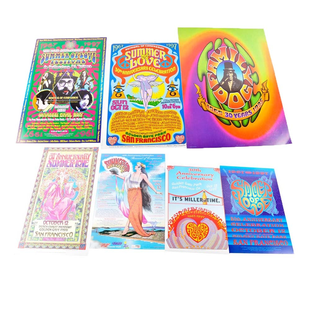 Summer of Love Anniversary Poster Collection