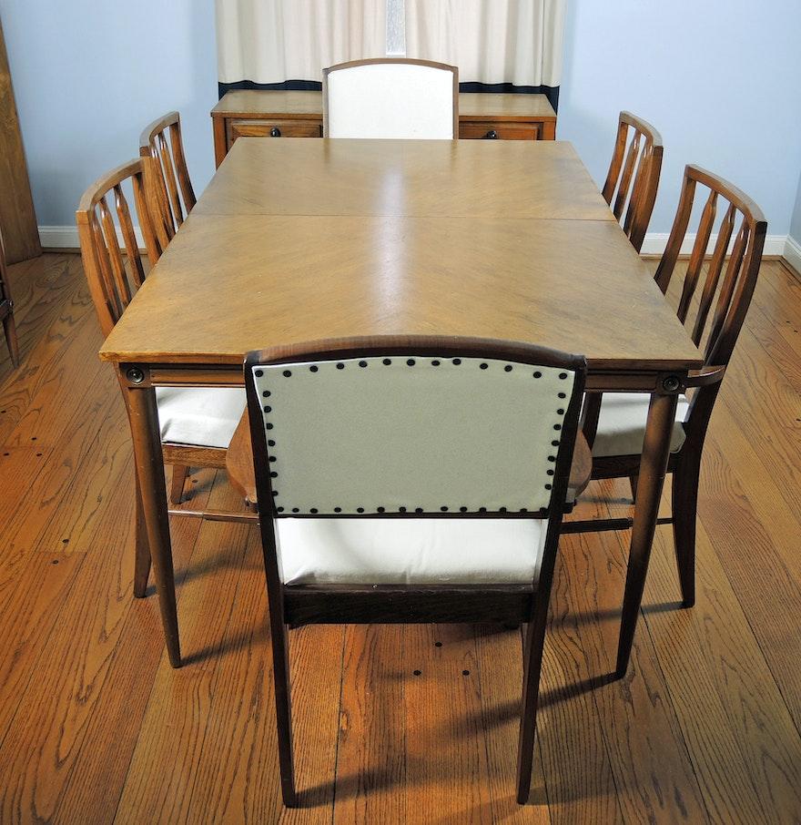 Vintage BasicWitz MidCentury Modern Dining Room Set And Buffet - Mid century modern dining room table
