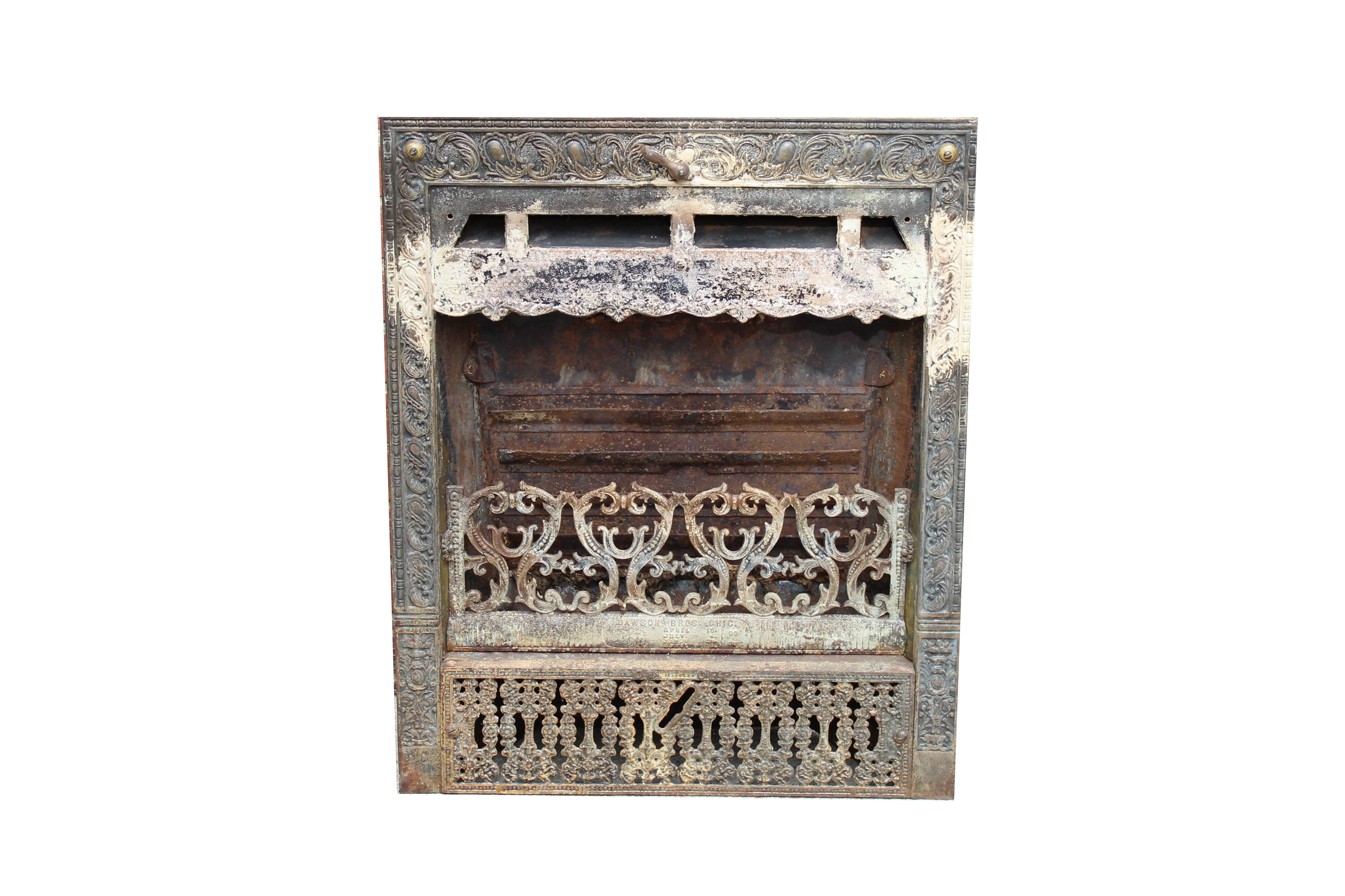 Dawson Brothers Antique Cast Iron Fireplace Insert from EBTH.com