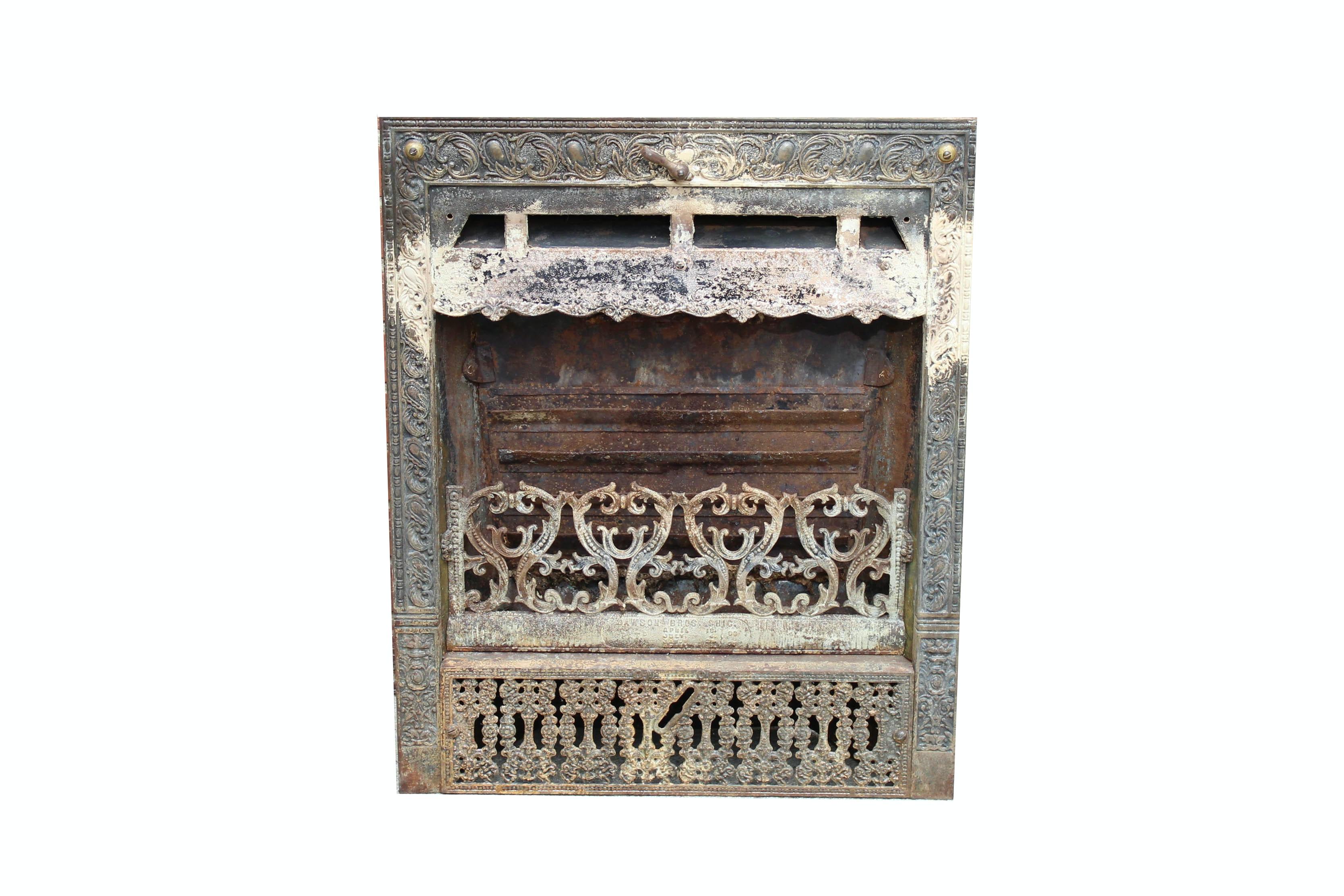 dawson brothers antique cast iron fireplace insert ebth