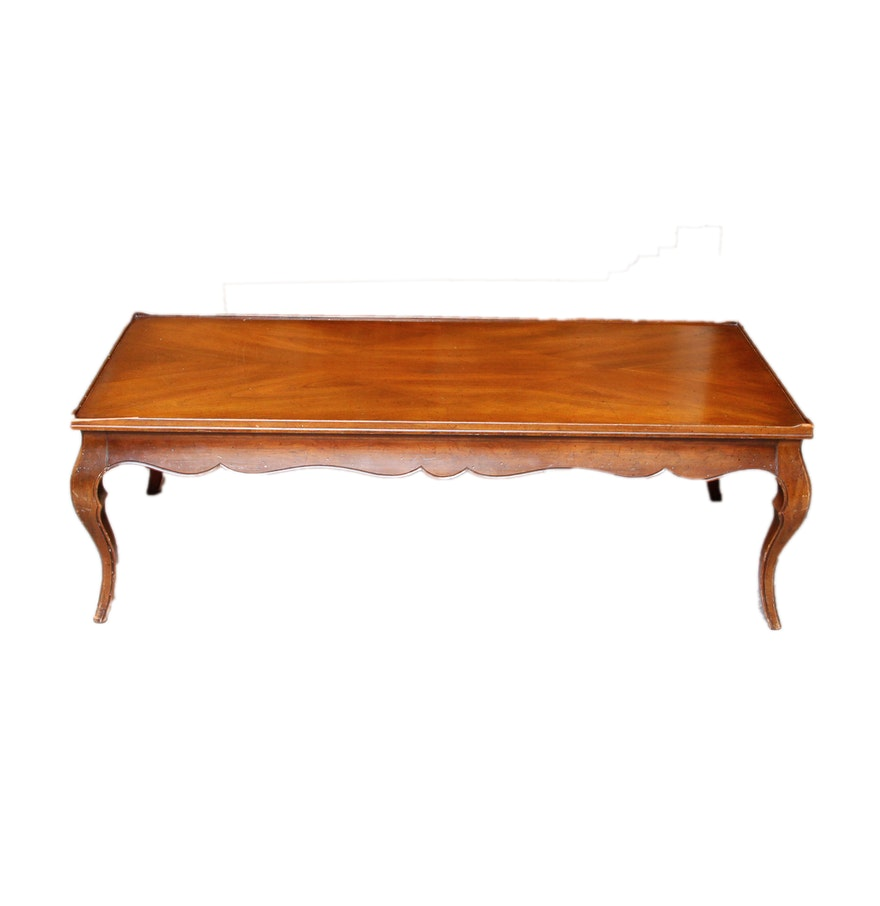 Vintage French Provincial Style Mahogany Coffee Table Ebth
