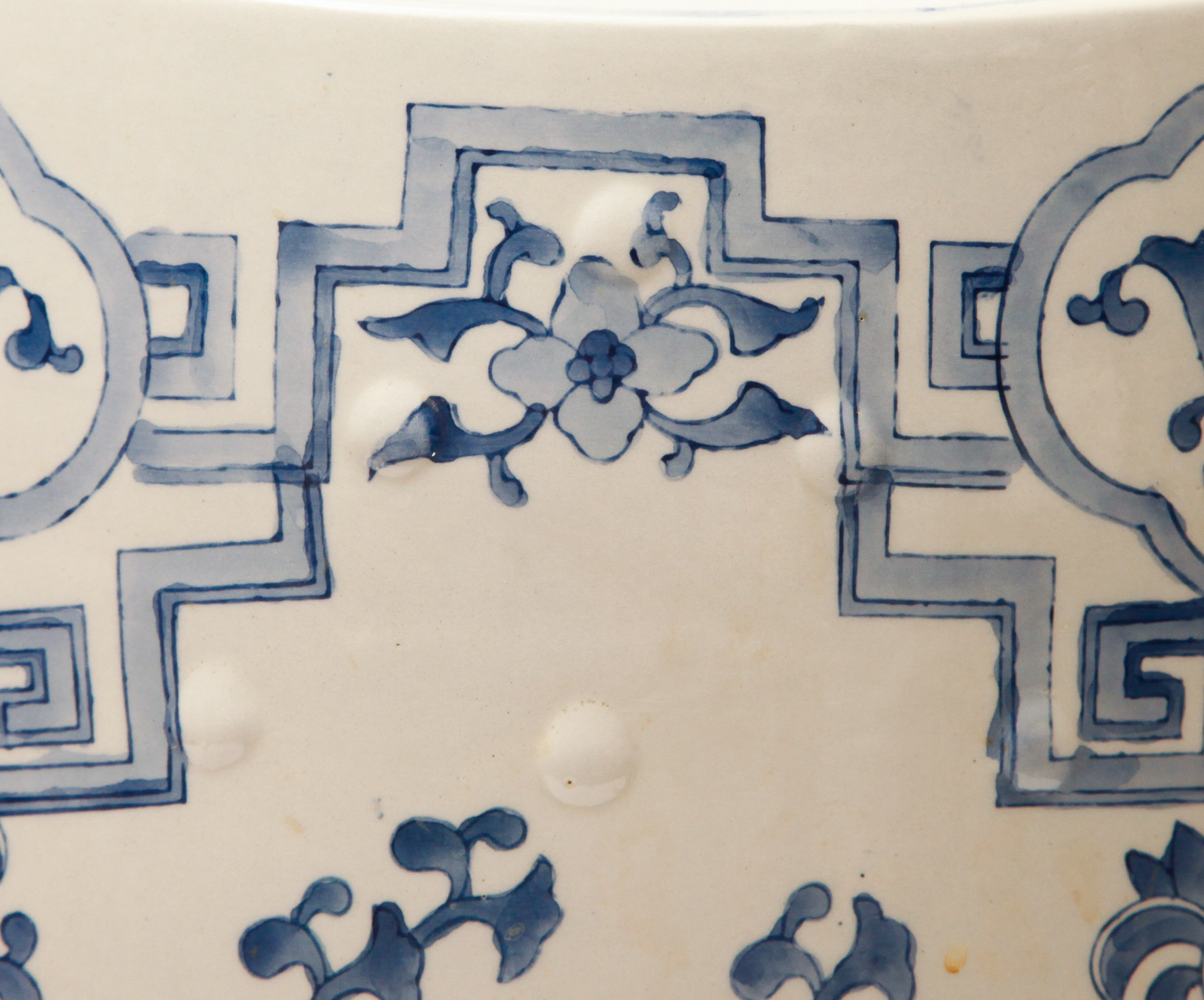 Blue And White Ceramic Chinese Style Garden Stool Ebth