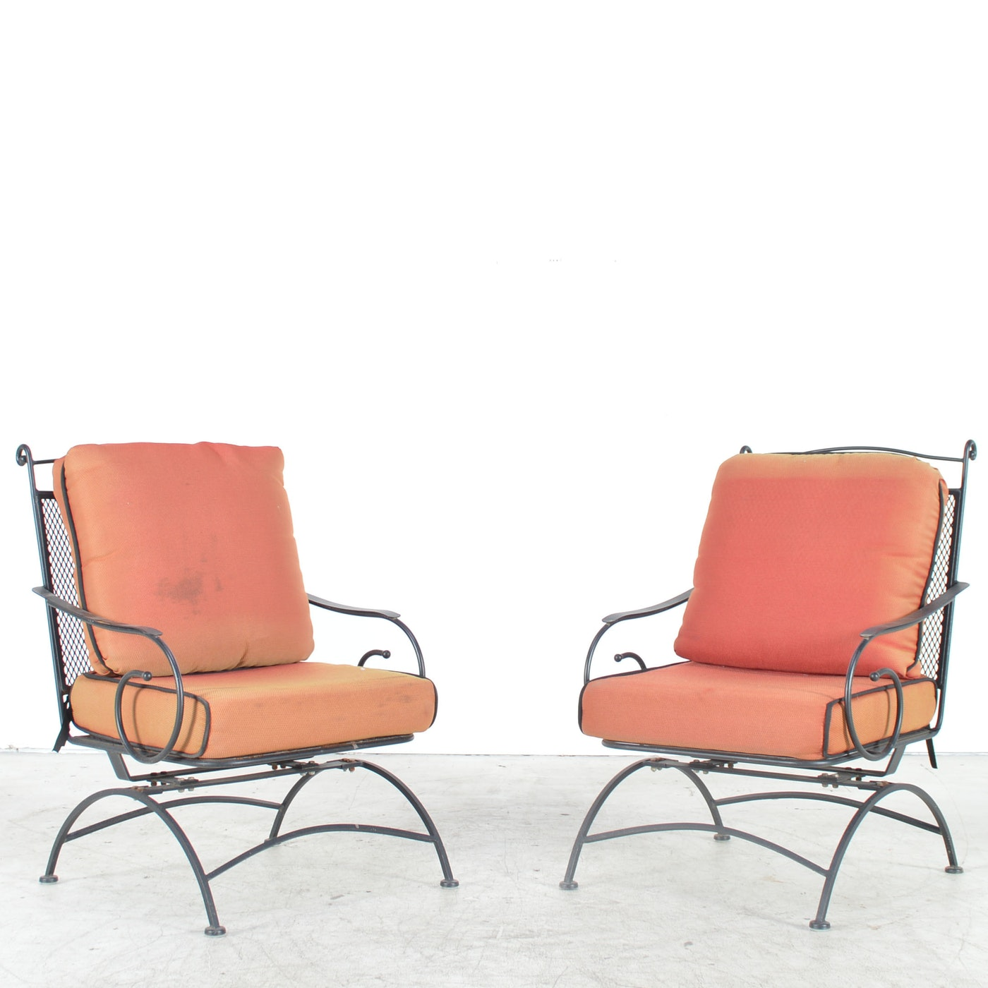 Black Metal Patio Chairs Ebth
