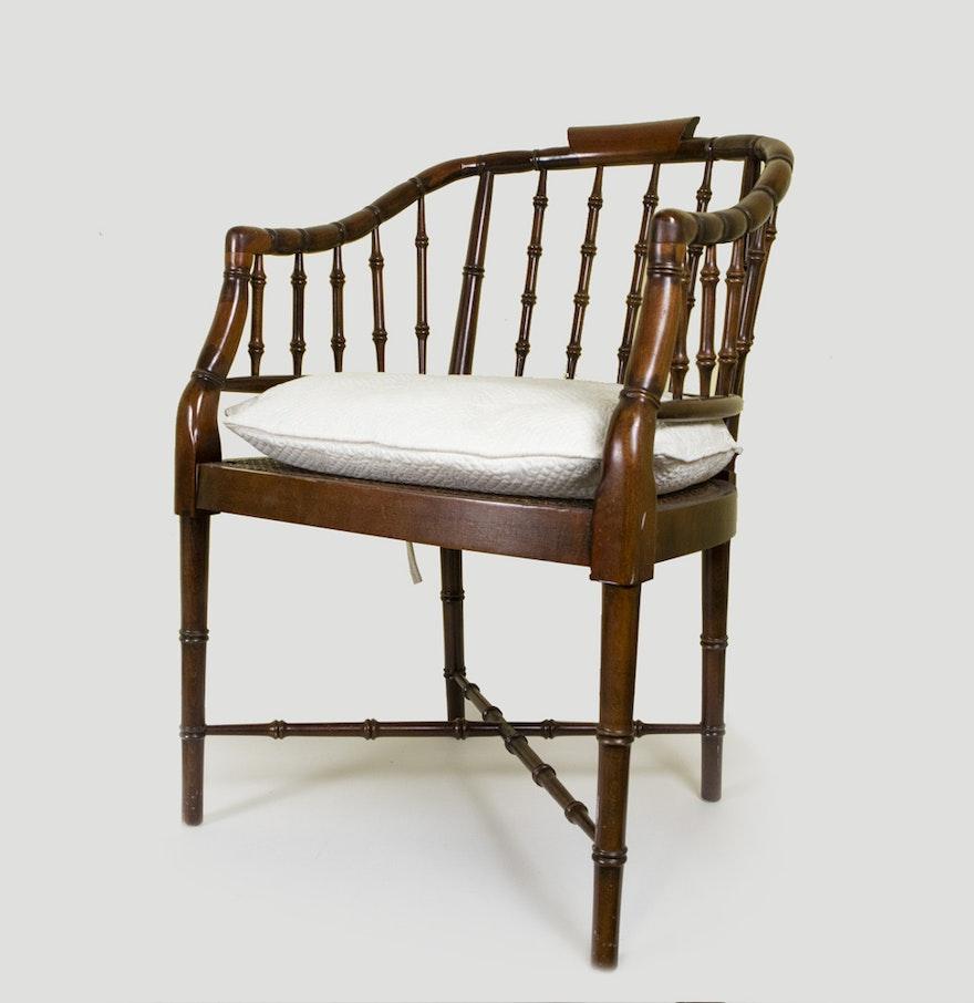 Mid Century Faux Bamboo Chair Ebth