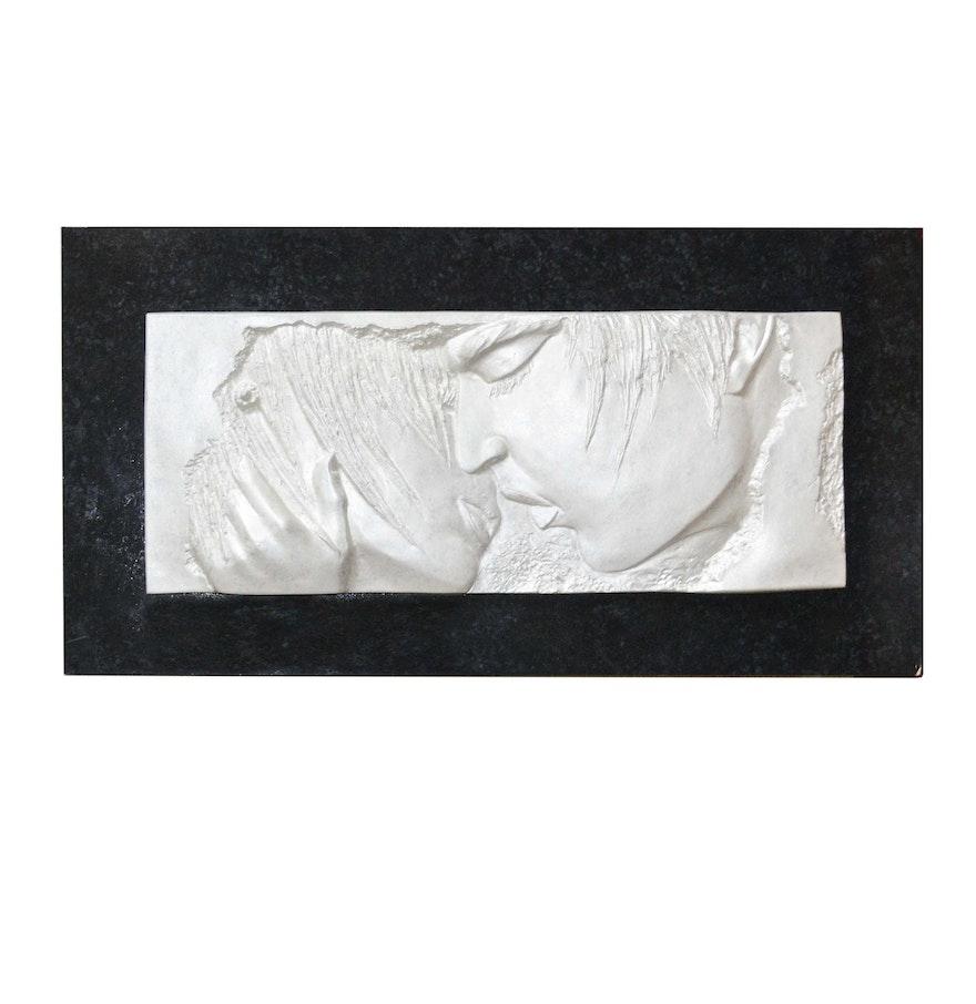 Plaster wall art sculpture ebth for Plaster wall art