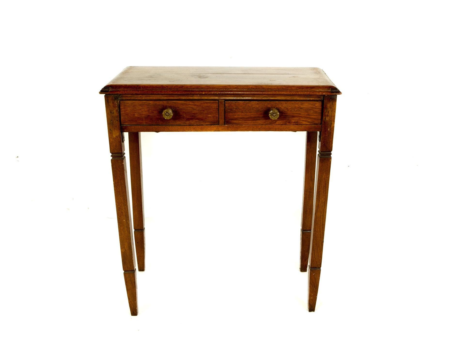 Antique Oak Accent Table Ebth