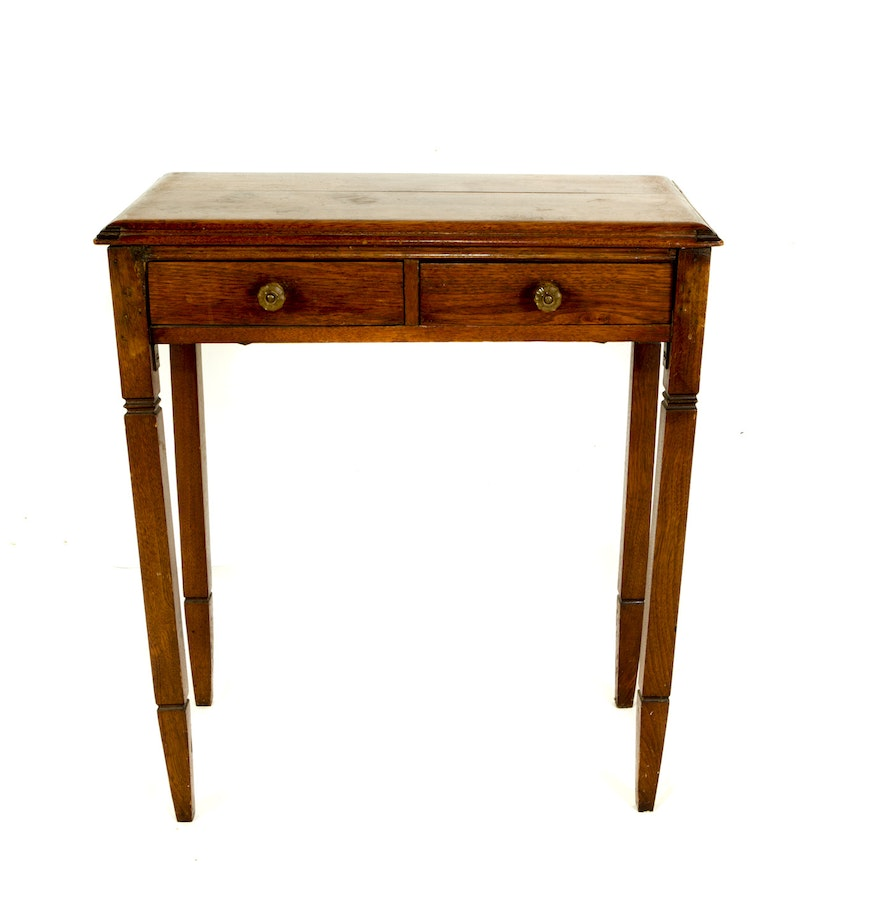 Antique oak accent table ebth for 12 x 12 accent table