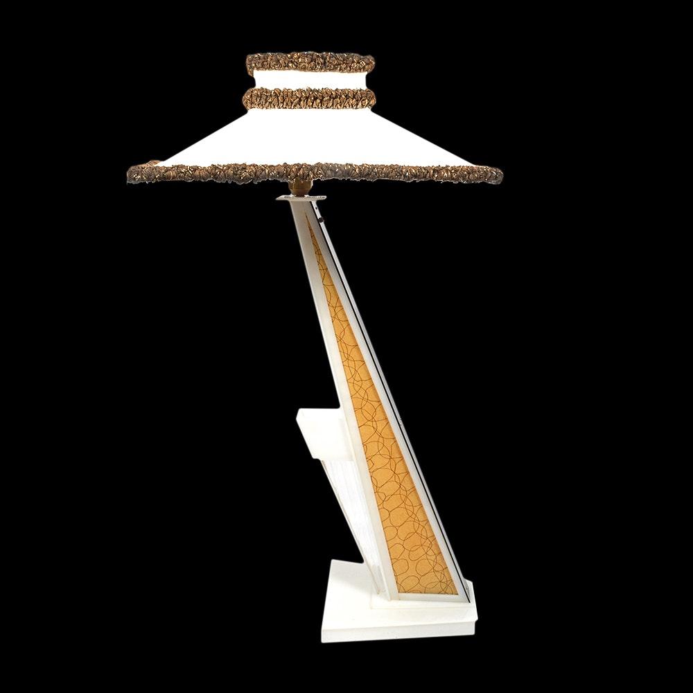 1950s Moss Lucite Floor Lamp