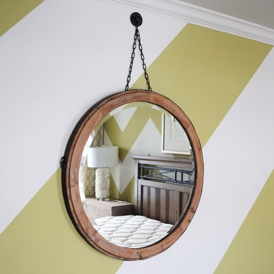 large round wall mirror ebth. Black Bedroom Furniture Sets. Home Design Ideas