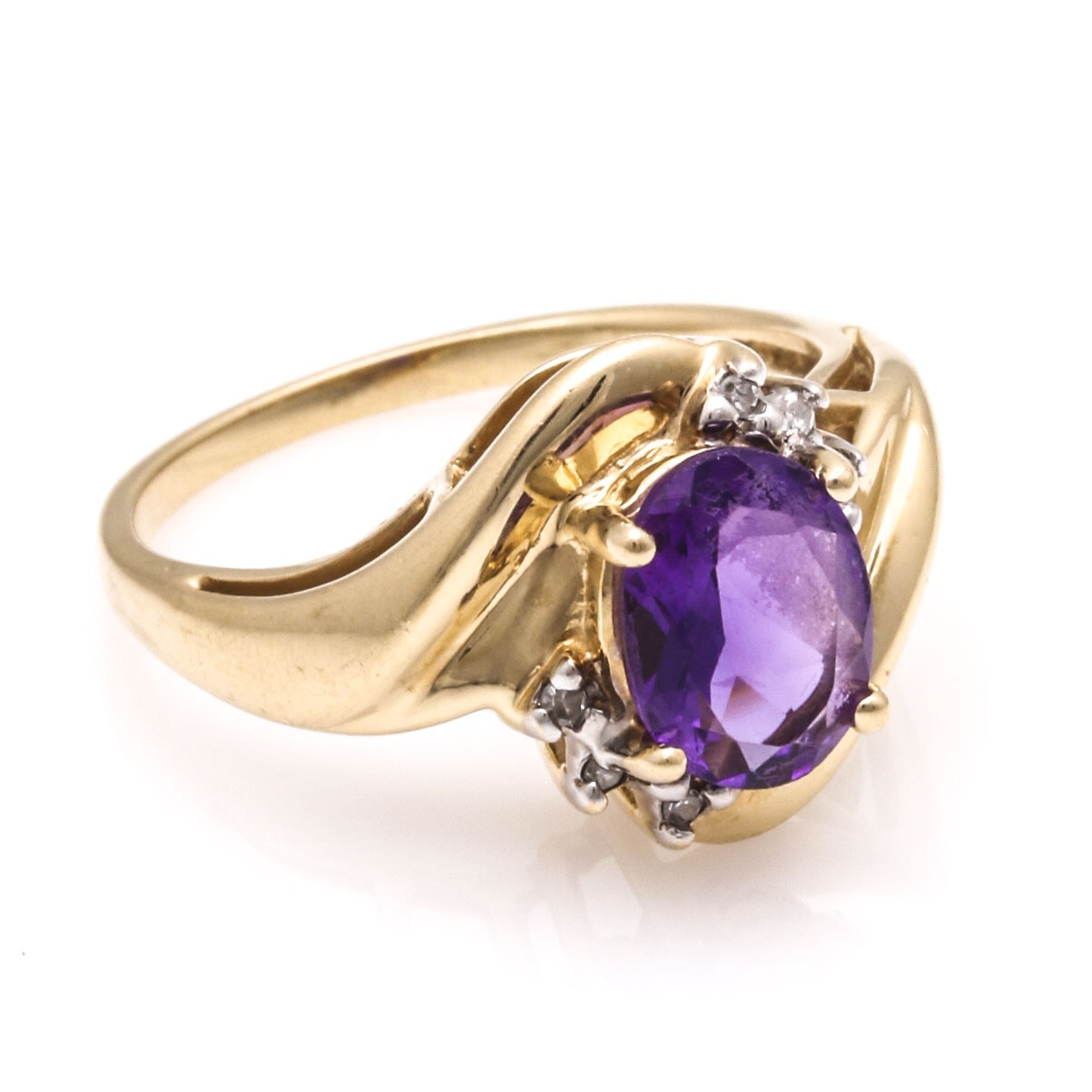 auctions amethyst diamond ring view more details