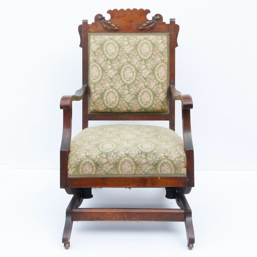 size 40 f2bca 689a1 Late 19th Century Eastlake Platform Rocking Chair