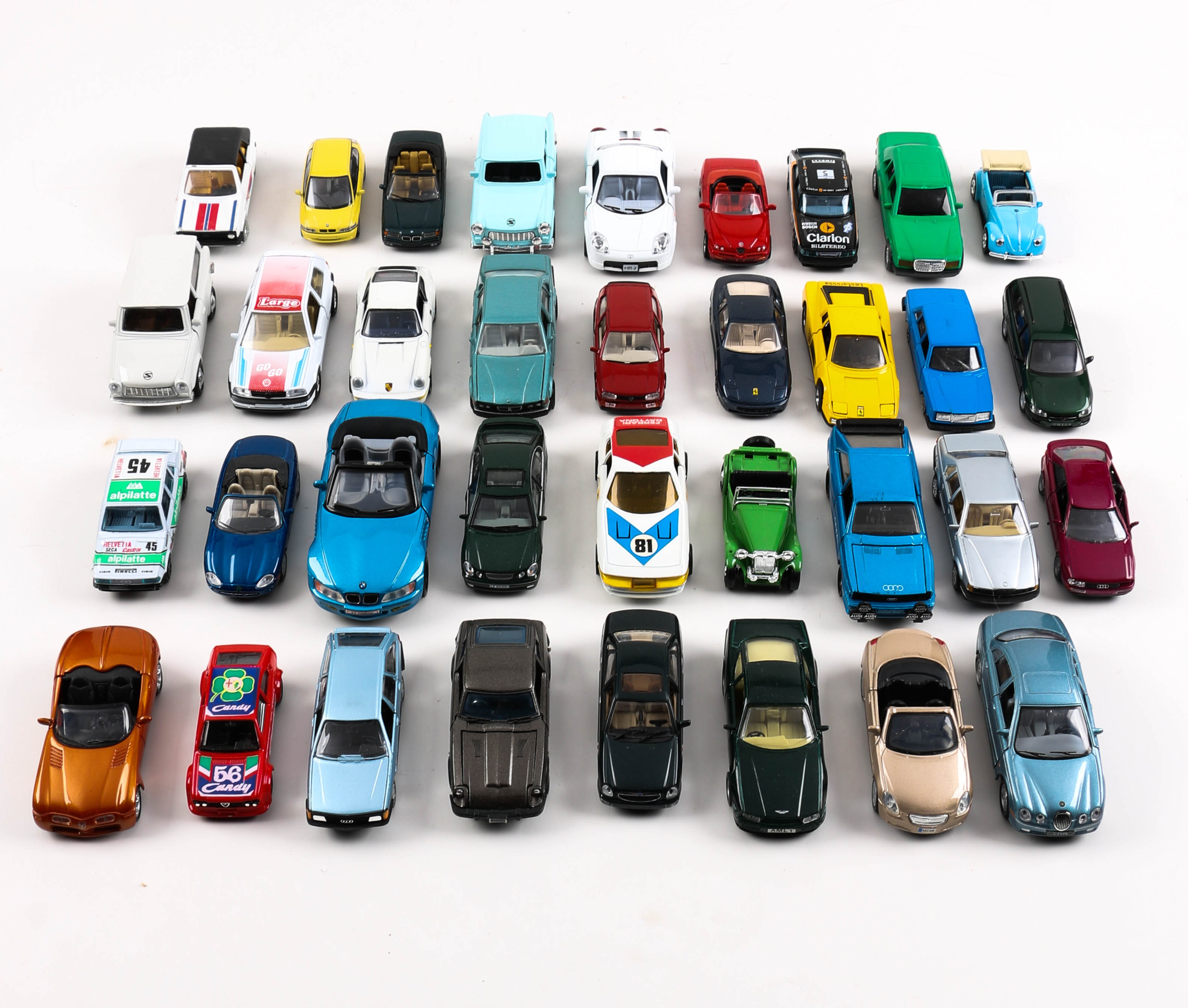 Assortment of European Die-Cast Toy Cars