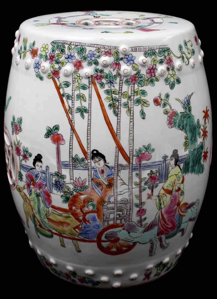 Chinese Style Ceramic Garden Stool Ebth