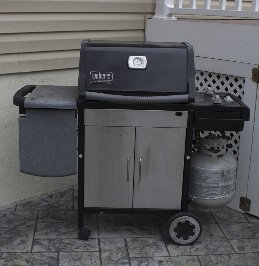 Weber genesis silver propane grill ebth - Weber genesis silver grill ...