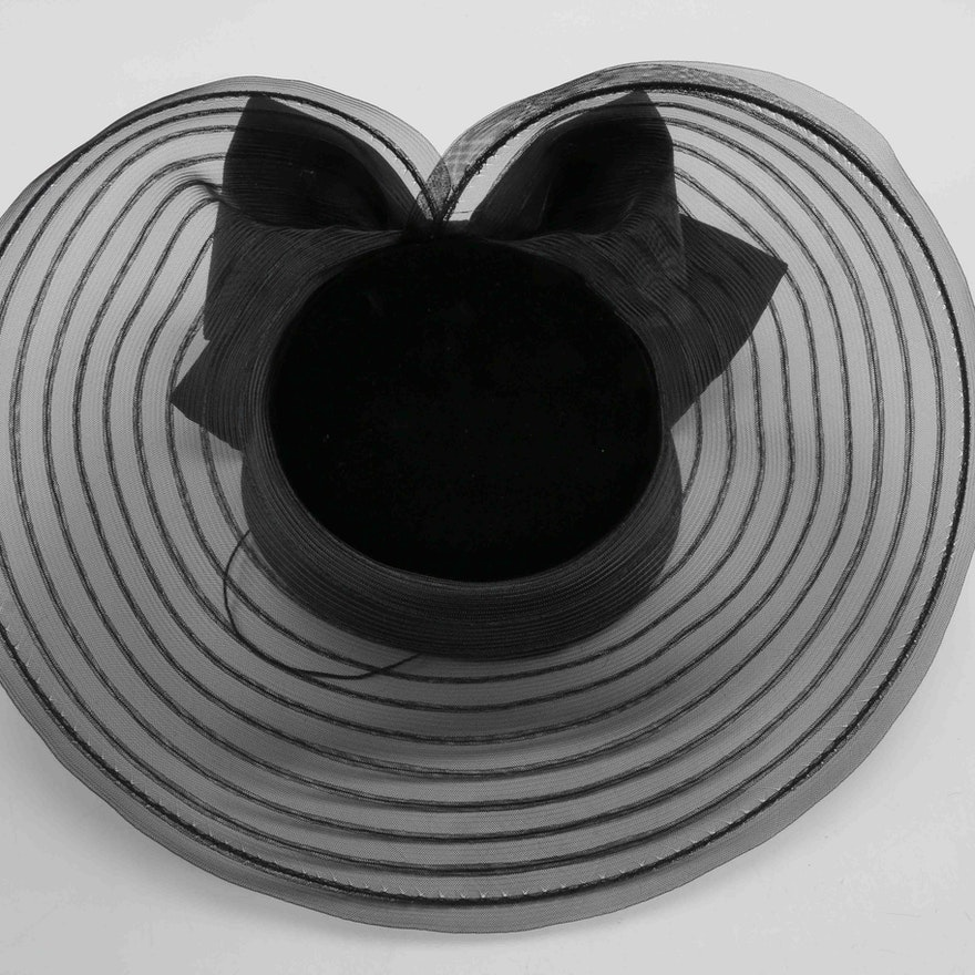 afe4486aa14 Eric Javits Black Derby Hat   EBTH
