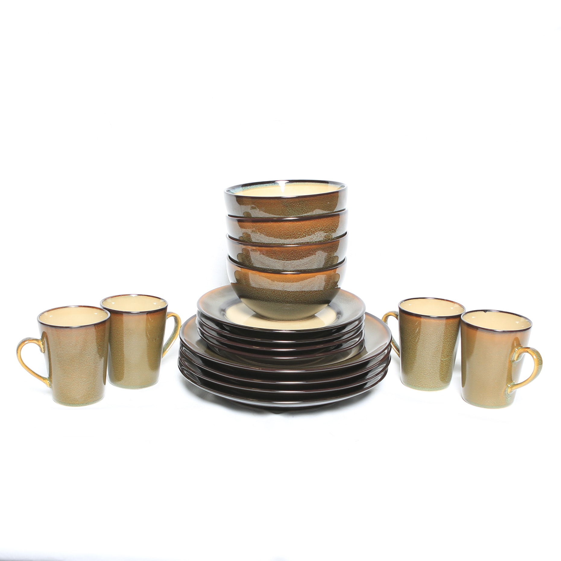 Collection of Home Trends Stoneware  Rave Stripe  Tableware ...  sc 1 st  EBTH.com & Collection of Home Trends Stoneware