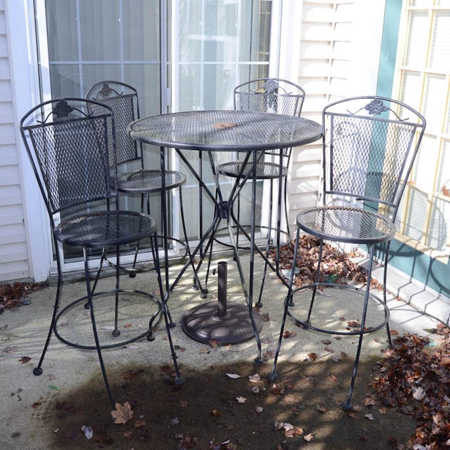 Plantation Patterns American Wrought Iron Furniture: Wrought Iron High Top Patio Set : EBTH