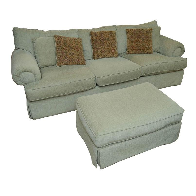 Great Alan White Sofa, Arm Chair, And Ottoman ...