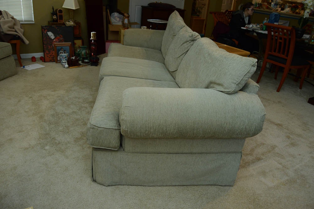 Alan White Sofa Arm Chair and Ottoman EBTH