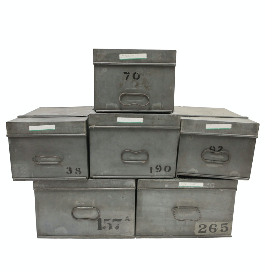 Vintage Metal Boxes 100