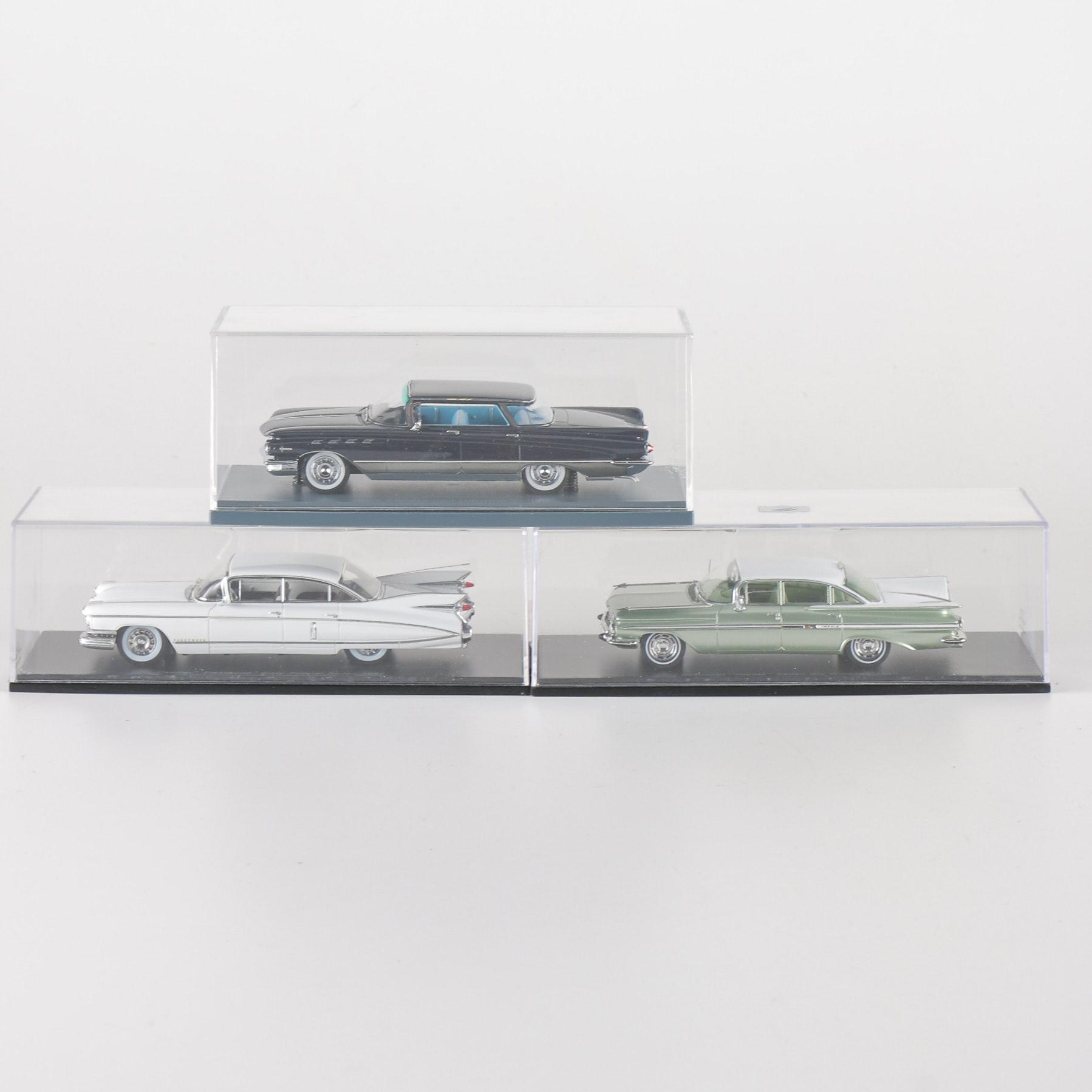 Three 1:43 Scale Die-Cast 1959  GM Cars