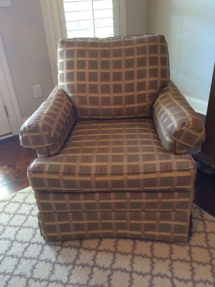 Charming Fashion House Furniture Plaid Leaf Armchair ...