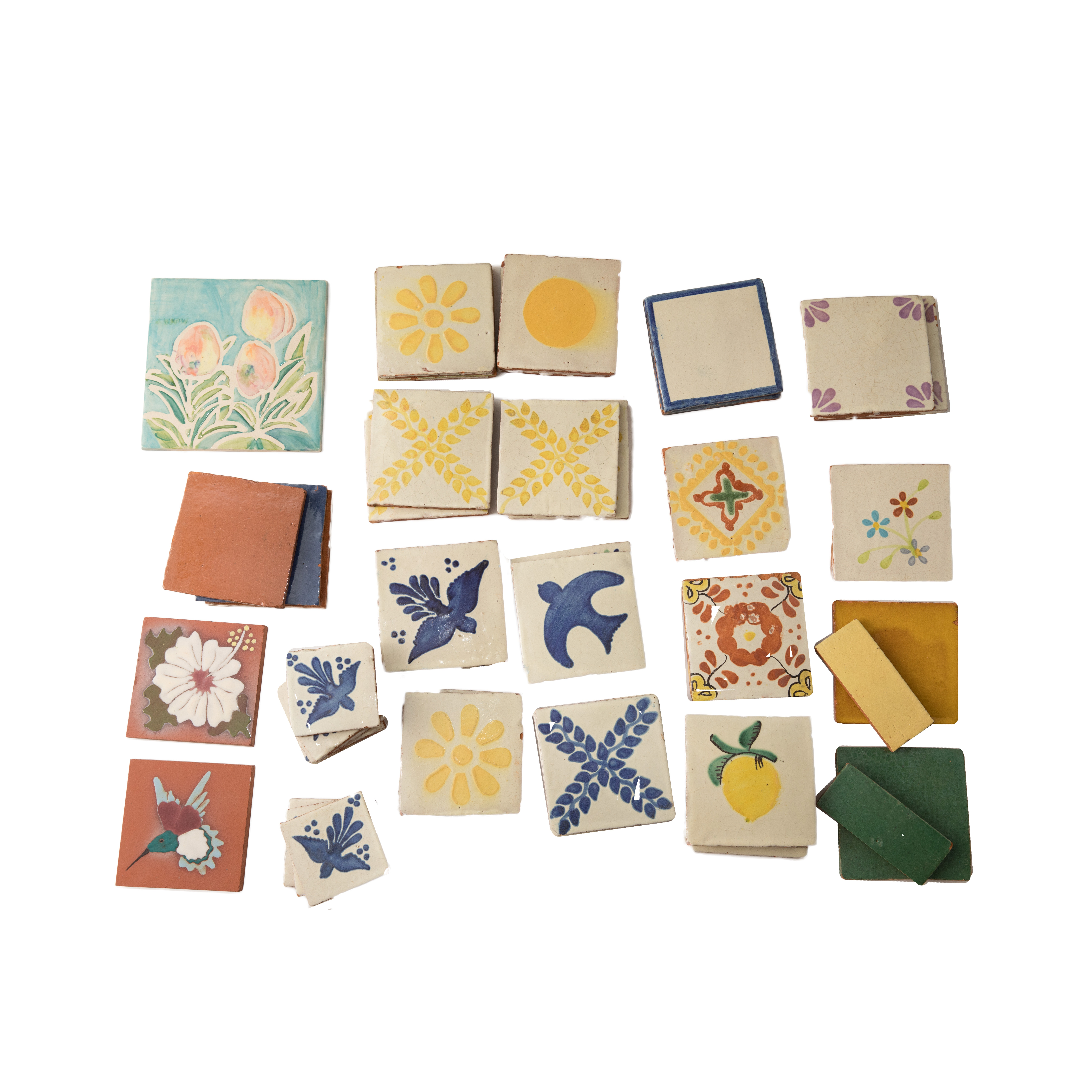 Hand-Painted Clay Tiles