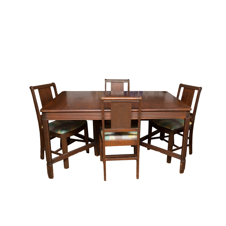 Vintage Hooker-Bassett Furniture Dining Table and Chair Set : EBTH