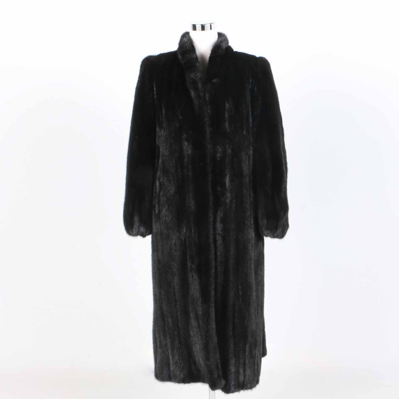 Black Mink Dress Coat