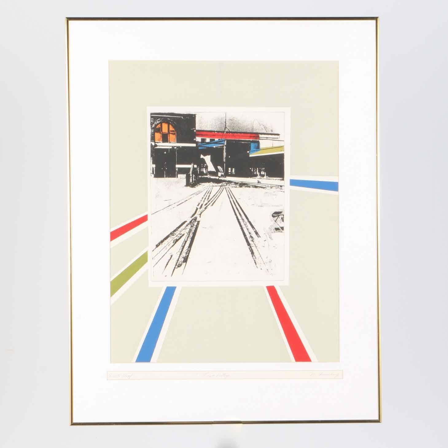 "M. Feinberg Artist's Proof Serigraph ""Last Vestige"""