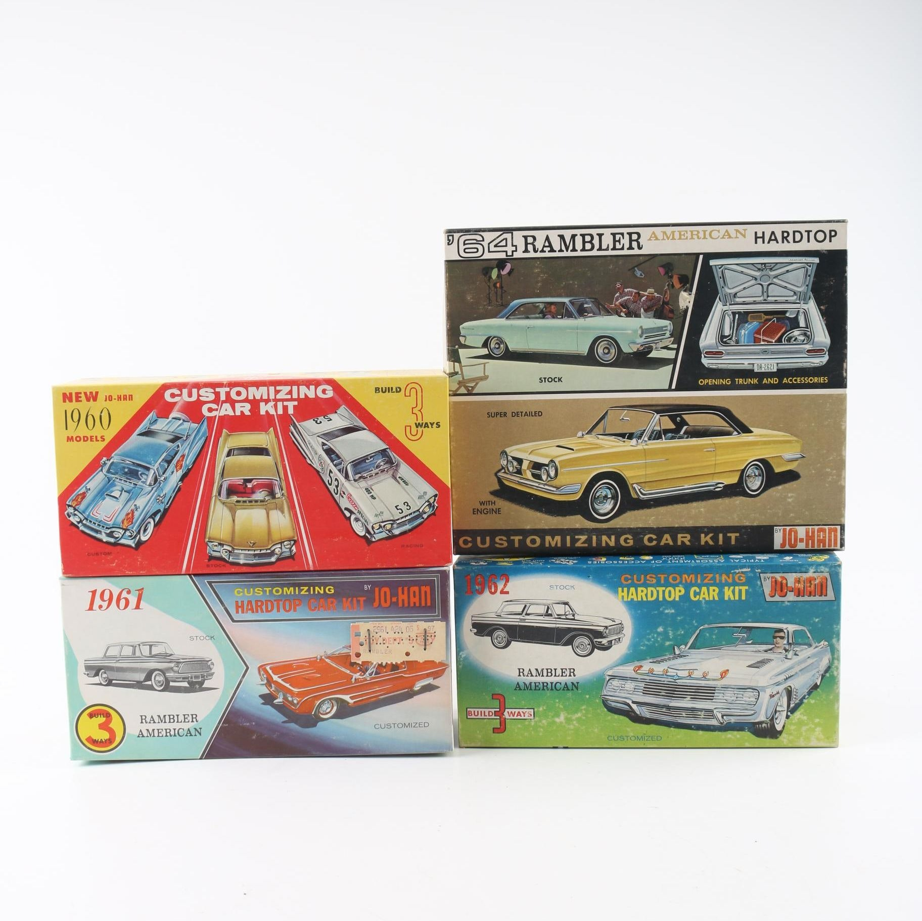 Collection of Vintage Johan Model Boxes