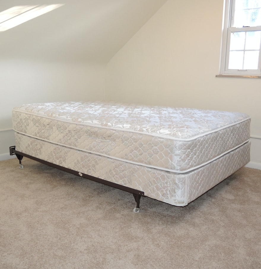 Full Size Mattress And Box Springs Set With Bed Frame Ebth