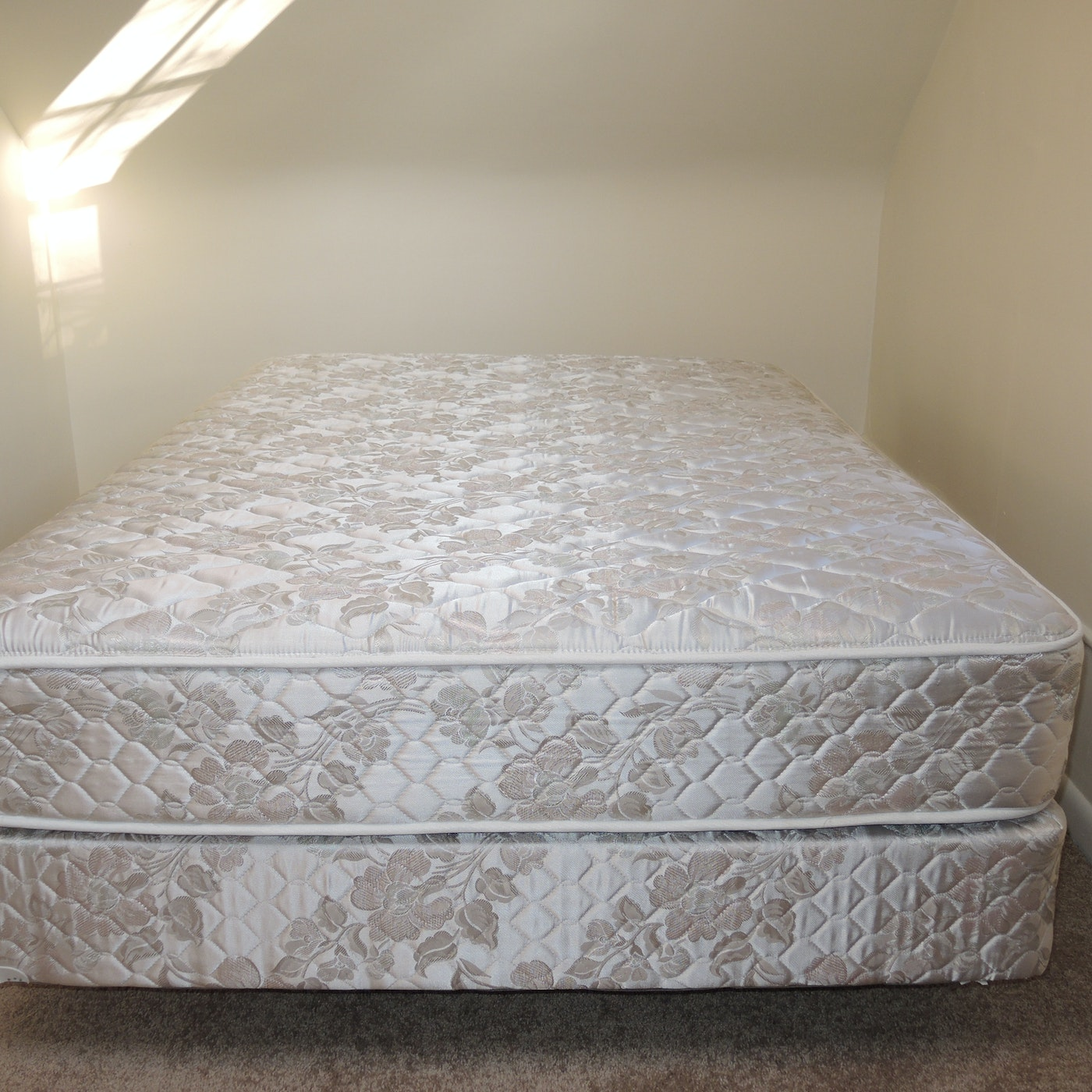 Full Size Mattress and Box Springs Set with Bed Frame | EBTH