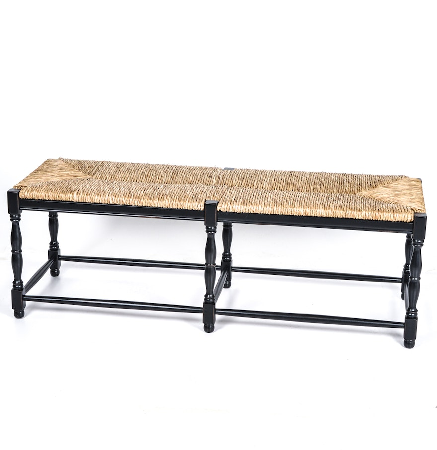 Ballard designs dorcester three seat bench in black ebth for Ballard designs bench seating