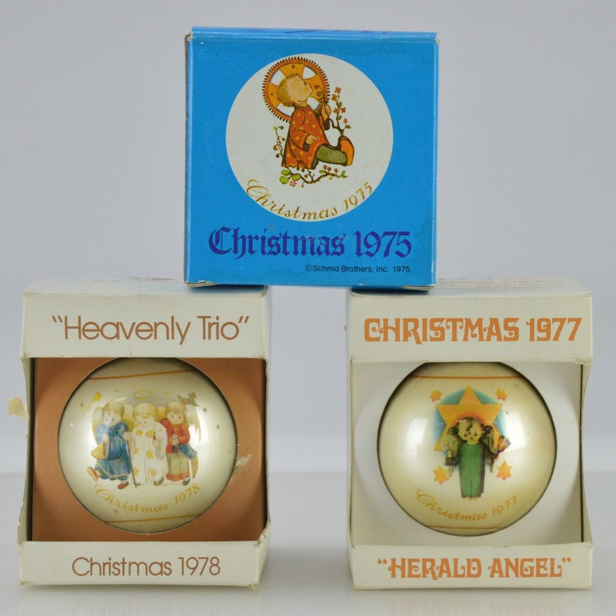 Hummel Christmas Ornaments.Limited Edition 1970s Hummel Christmas Ornaments