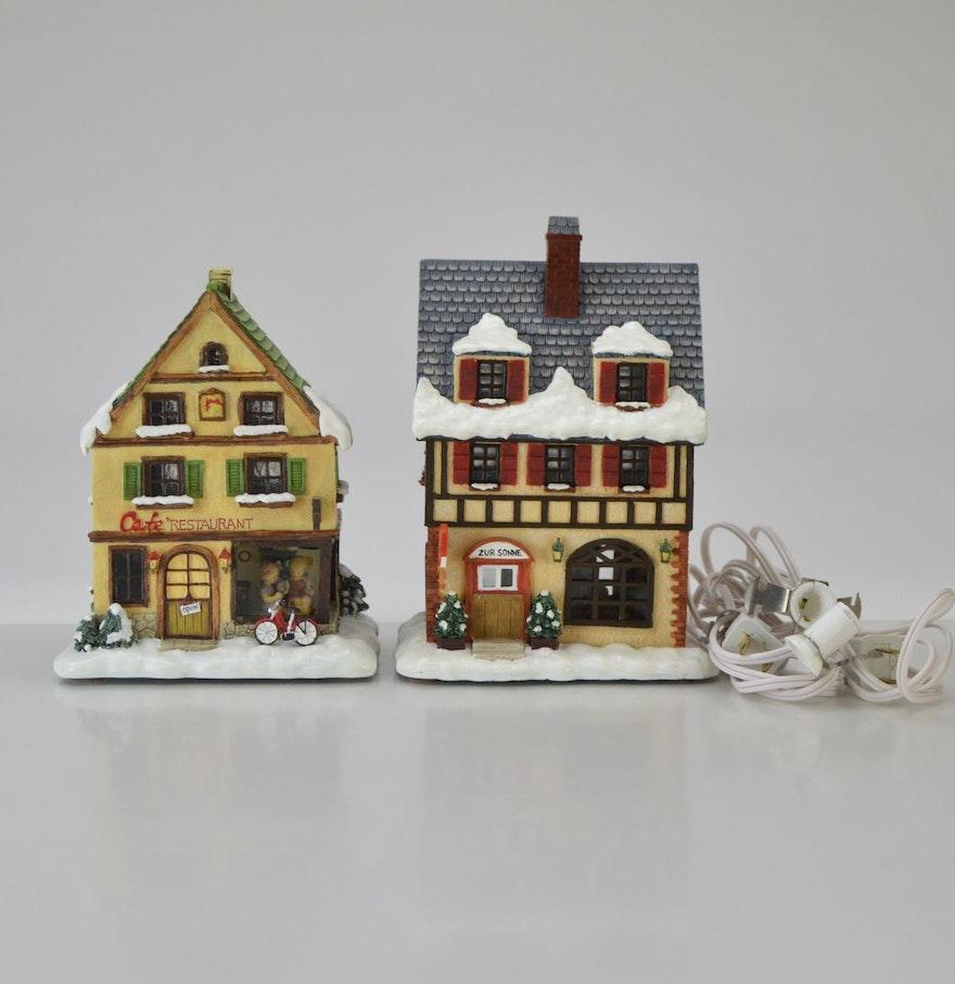 Hummel christmas tree ornaments - Berta Hummel Christmas Village Buildings